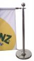 Столбик с креплениями для жеских перемычек и баннера.